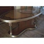 Art Deco Art Nouveau Living Room Table Glass Top
