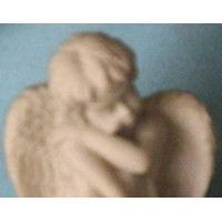 White Trinket Box Heart Angel Bisque Keepsake