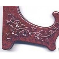 Plate Holder Relif Floral Design Cranberry