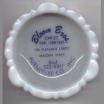 Vintage milkglass ashtray Bloom Bros. Co.