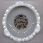 Vintage milkglass ashtray Vermont picture