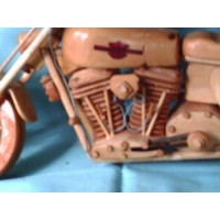 Motorcycle Collectibles Wood Handmade Trunk