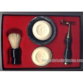 Men's Shaving Kit Gift Set Razor Badger Brush Le Case