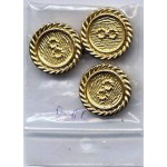 56 Buttons Metal Gold Silver Copper Shank CPO