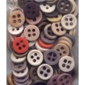 96 Plastic Buttons Mixed Color Large Holes