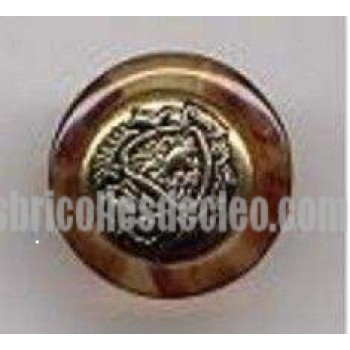 Buttons Gold Center Amber Outer Plastic Back Shank