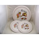 3 Piece Pizza Plate Set for Two