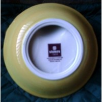 Yellow Ceramic Bowl Holidays Candy Chips Vegi