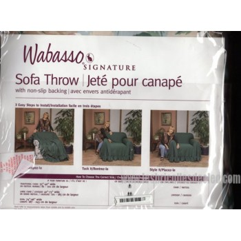 Wabasso Signature Sofa Throw Non-Slip Backing