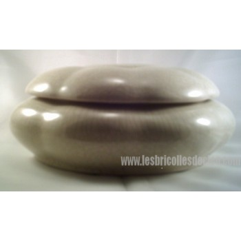 Trinket Box Ceramic Sage Green Crackle Finish
