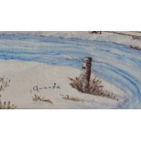 Framed Oil Painting Canvas Landscape Winter