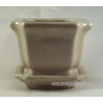 Ceramic Planter Flower Pot Plant Container Saucer Sm