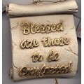 Decorative Plaque Parchment Blessed Comforted