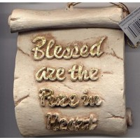 Decorative Plaque Parchment Blessed Pure Heart