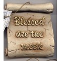 Decorative Plaque Parchment Blessed Meek