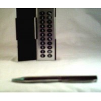 Calculator Mini Pen Silver Carrying Case Gift Purse