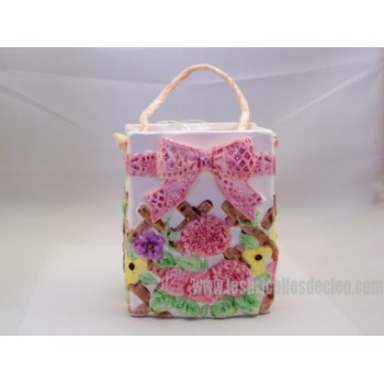 Bowl or Container Ceramic Bag Easter Bunny