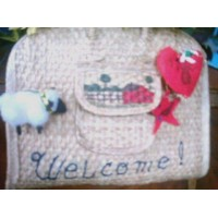 Greeting Straw Purse Welcome Recycle