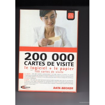 200 000 Business Cards Software Paper 100 cards Cliparts FR