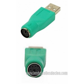 USB 2.0 Type A Male To PS2 Female Converter Adapter (3)