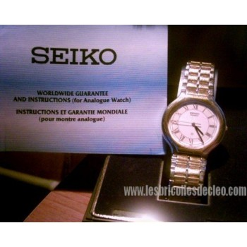 Seiko Analogue Men Wristwatch Box Instructions