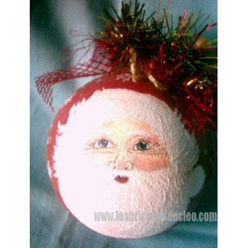 Hand Painted Christmas Ball Ornament Handmade