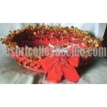 Christmas Basket Handcrafted Cards Holder