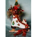 Ice Skate Door Greeter Decorative Christmas