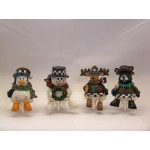 Christmas Cake Cheese Topper Figurines
