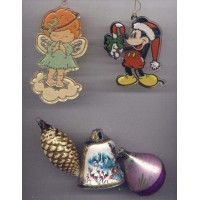 Mickey Mouse Christmas Ornaments Vintage