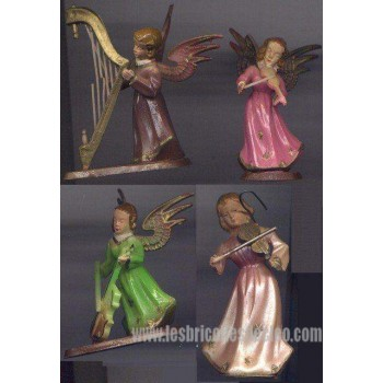 Vintage Plastic Christmas Angels Ornaments