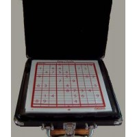Sudoku Game Glass Cardinal Carrying Black Case