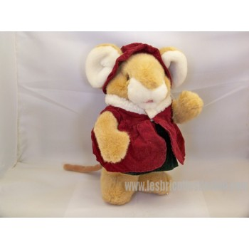 Beige Mouse Animal Stuffed Plush 10 ""