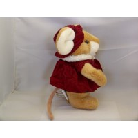 Beige Mouse Animal Stuffed Plush 10 in.