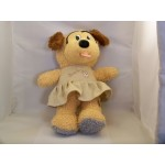 Plush Beige Doggy Girl Padded Animal 14""