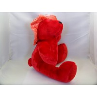 image-ourson-peluche-rouge-animal-rembourré-10-2