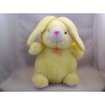 Yellow Stuffed Plush Bunny Padded Animal Easter 12""