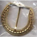 Belt Buckle Gold Finish Brass Medieval Costumes C-55363